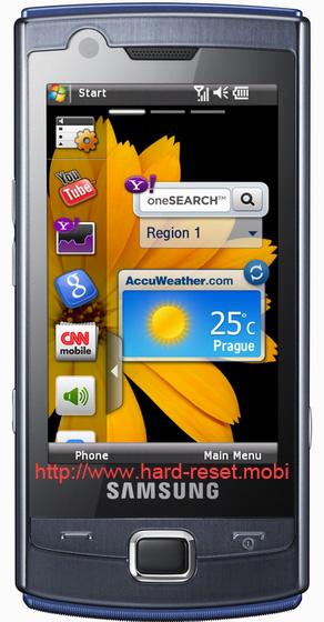 Samsung GT-B7300 Omnia Lite Soft Reset