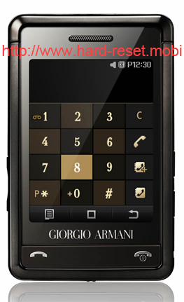 Samsung Armani Hard Reset