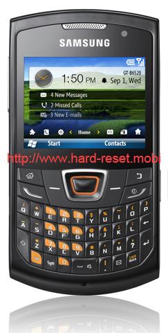 Samsung GT-B6520 Omnia Pro 5 Soft Reset