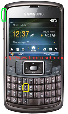 Samsung GT-B7320 Omnia Pro Hard Reset