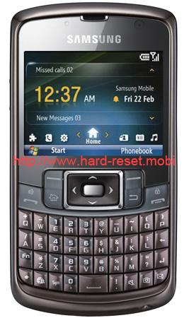 Samsung GT-B7320 Omnia Pro Soft Reset
