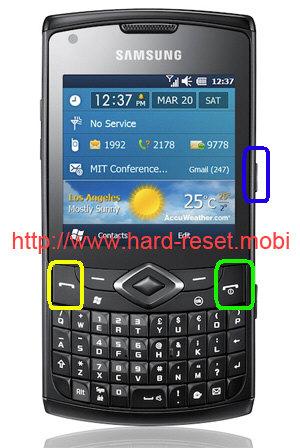 Samsung GT-B7350 Omnia Pro 5 Hard Reset