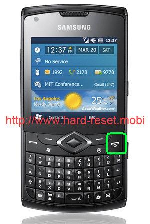 Samsung GT-B7350 Omnia Pro 5 Soft Reset