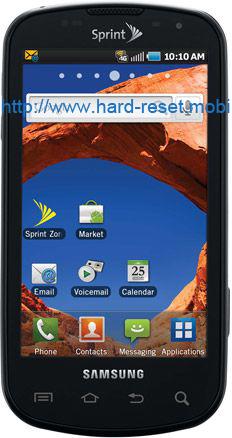 Samsung Epic 4G D700 Soft Reset