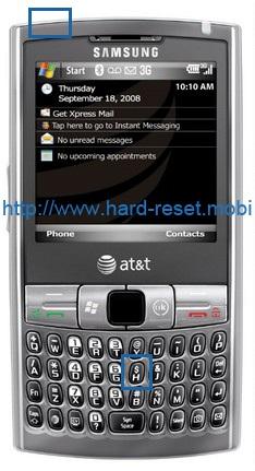 Samsung Epix SGH-i907 Hard Reset