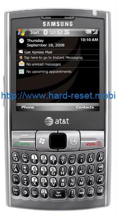 Samsung Epix SGH-i907 Soft Reset
