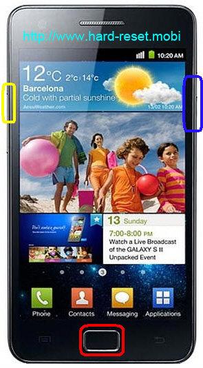 Samsung Galaxy S2 GT-I9100 Hard Reset