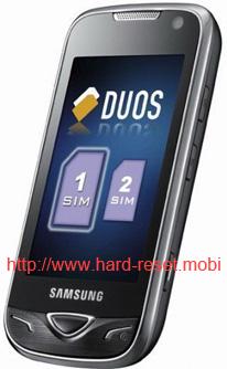 Samsung GT-B7722 Duos Hard Reset