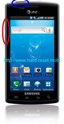 Samsung Captivate SGH-i897 Hard Reset