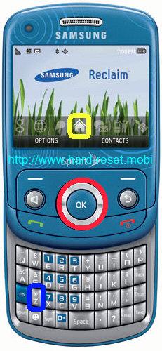 Samsung Reclaim SPH-M560 Hard Reset
