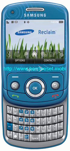 Samsung Reclaim SPH-M560 Soft Reset