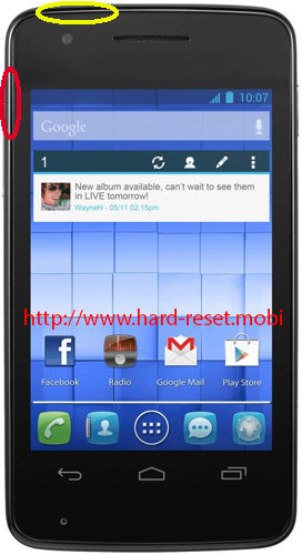 Alcatel One Touch 4030x Hard Reset