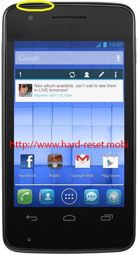 Alcatel One Touch 4030x Soft Reset