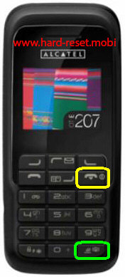 Alcatel OT-E207 Hard Reset