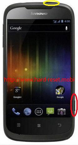 Lenovo A750 Hard Reset