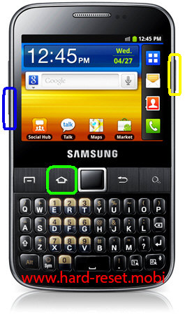 Samsung Galaxy Y Pro GT-B5510 Download Mode