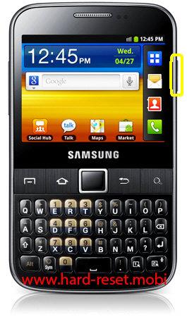 Samsung Galaxy Y Pro GT-B5510 Soft Reset