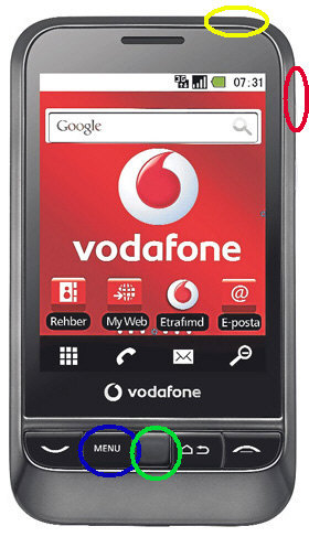Vodafone 845 Joy Hard Reset