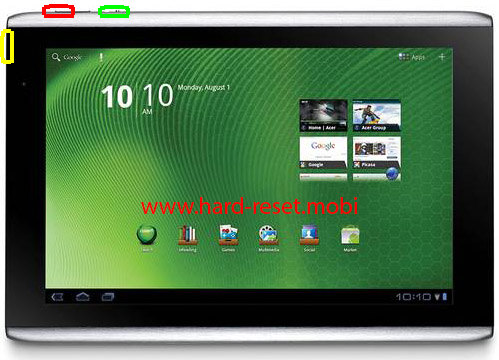 Acer Iconia Tab A500 Hard Reset