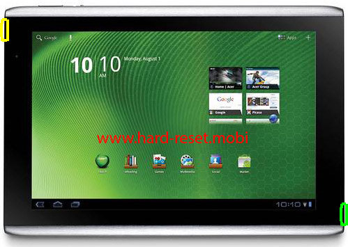 Acer Iconia Tab A500 Soft Reset