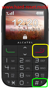 Alcatel 20.00 Hard Reset