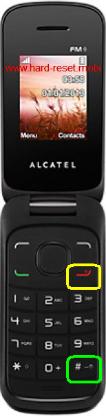 Alcatel One Touch 1030G Hard Reset