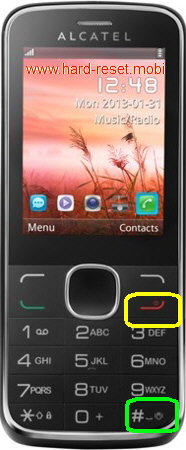 Alcatel One Touch 2005 Hard Reset