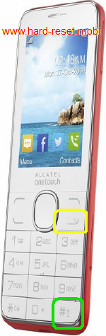 Alcatel One Touch 2007 Hard Reset