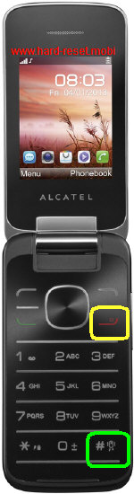 Alcatel One Touch 2010 Hard Reset