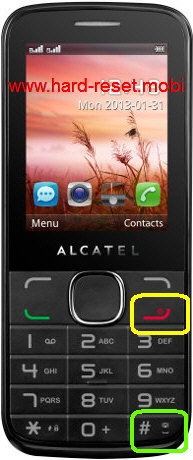 Alcatel OneTouch 20.40 hard reset