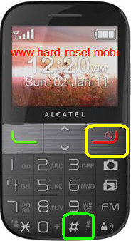 Alcatel One Touch 2001A Hard Reset