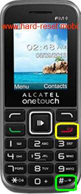 Alcatel One Touch 1041A Hard Reset