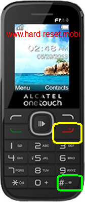Alcatel One Touch 1045D Hard Reset