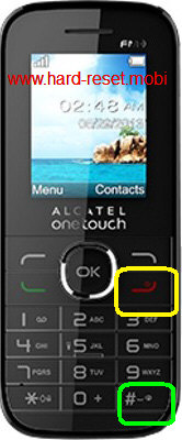 Alcatel One Touch 1046X Hard Reset