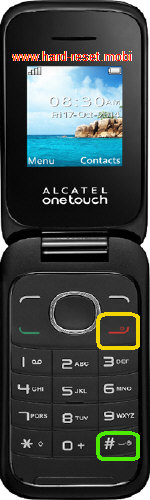 Alcatel One Touch 1035A Hard Reset