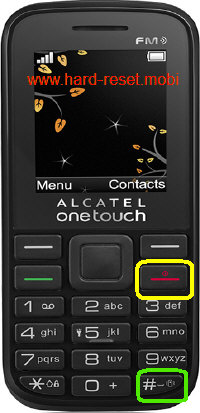 Alcatel One Touch 1040X Hard Reset