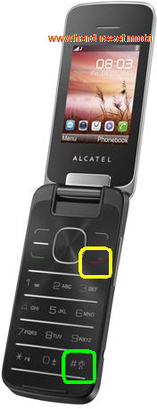 Alcatel One Touch 20.12G Hard Reset