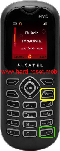 Alcatel One Touch 208 Hard Reset