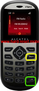 Alcatel One Touch 209 Hard Reset