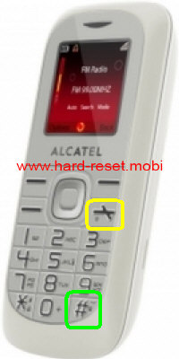 Alcatel One Touch 213 Hard Reset