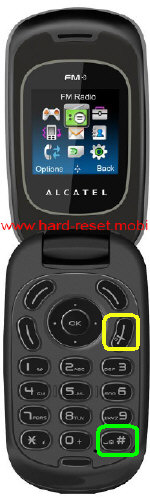 Alcatel One Touch 222 Hard Reset