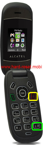 Alcatel One Touch 223 Hard Reset