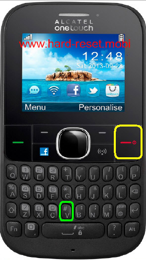 Alcatel One Touch 30.74 Hard Reset