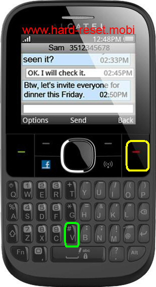 Alcatel One Touch 3020D Hard Reset