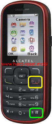 Alcatel One Touch 303A Hard Reset