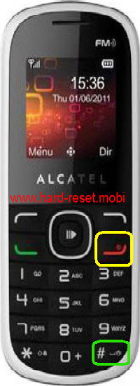 Alcatel One Touch 308A Hard Reset