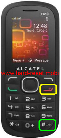 Alcatel One Touch 316A Hard Reset