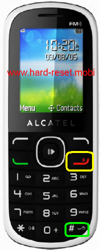 Alcatel One Touch 318D Hard Reset