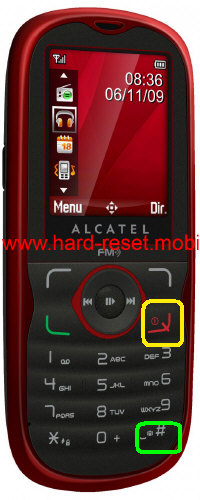Alcatel One Touch 505 Hard Reset