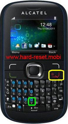 Alcatel One Touch 585D Hard Reset